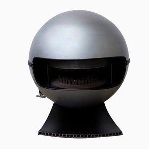 Estufa modelo 2000 en negro de Richard Wolthekker para Faber, 1965