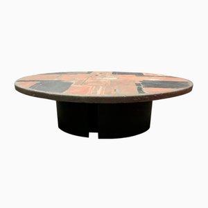 Tavolino da caffè rotondo in pietra di Paul Kingma, 1970