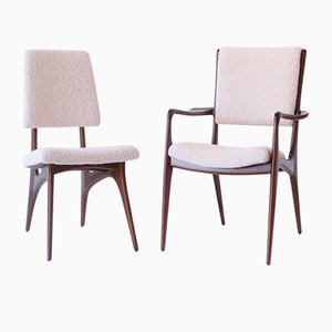 Dining Chairs by Vladimir Kagan for Dreyfuss, 1950s, Set of 2