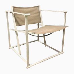 Linen FM62 Cube Lounge Chair by Radboud Van Beekum for Pastoe, 1980s