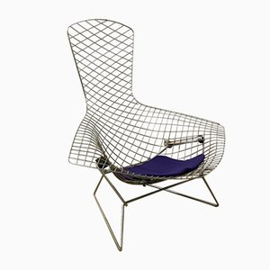 Chaise Bird en Chrome par Harry Bertoia pour Knoll International, 1952
