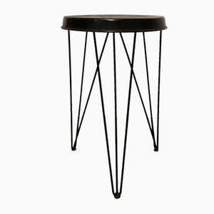Black Stool by Tjerk Reijenga for Tomado/Pilastro, 1966