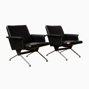 Dänische Midcentury Kunstleder 1432 Stühle von Andre Cordemeyer für Gispen, 1961, 2er Set