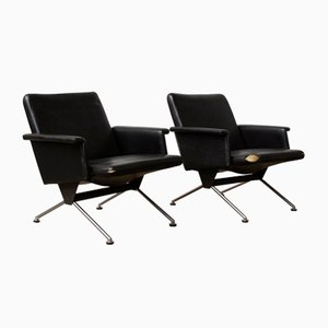 Mid-Century Black 1432 Easy Chairs by Andre Cordemeyer for Gispen, 1961, Set of 2
