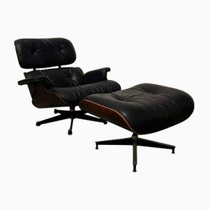 Juego de sillón y otomana de Charles & Ray Eames para Herman Miller, años 60
