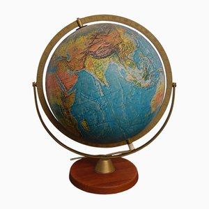 Lámpara de mesa vintage esférica iluminada, años 70