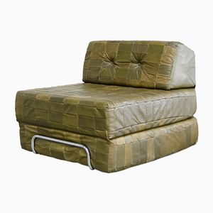 Vintage Leather Modular Patchwork Daybed, Set of 2