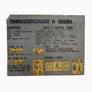 Póster vintage del ejército ruso, años 70