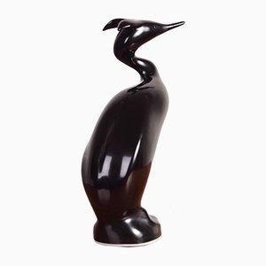 Skulptur in Wasservogel-Optik aus Porzellan von Jiri Cernoch für Royal Dux, 1960er