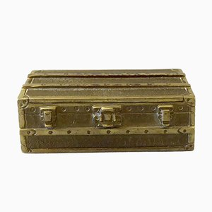Brass Paperweight Trunk from Louis Vuitton, 1980s