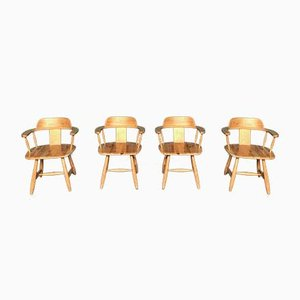 Scandinavian Armchairs, 1960s, Set of 4