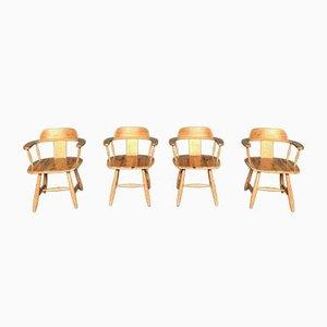 Skandinavische Armlehnstühle, 1960er, 4er Set