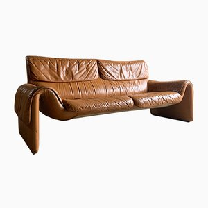 DS2011 Cognac Leather Sofa from de Sede, 1980s