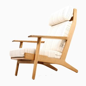 Danish GE 290 Oak Easy Chair by Hans J. Wegner for Getama, 1960s