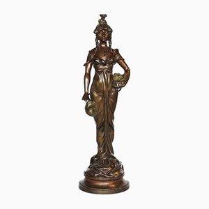 Statuetta odalisca antica di Paul Celestin Nanteuil-LeBoeuf