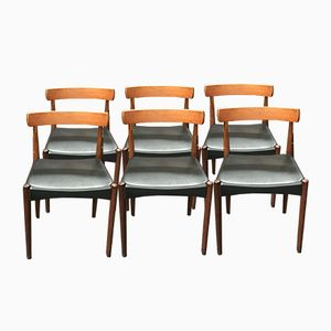 Vintage Danish Dining Chairs by Arne Hovmand Olsen for Mogens Kold, Set of 6