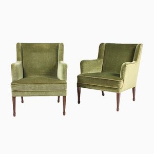 Danish Lounge Chairs by Frits Henningsen, 1940s, Set of 2