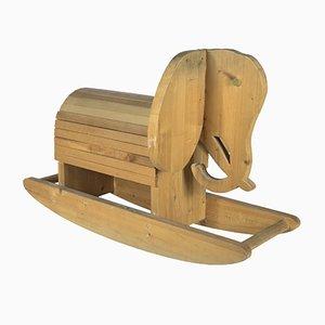 Wooden Rocking Elephant, 1970s