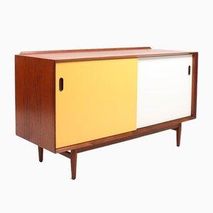 Mid-Century Sideboard aus Teak mit farbigen Türen von Arne Vodder für Sibast, 1960er