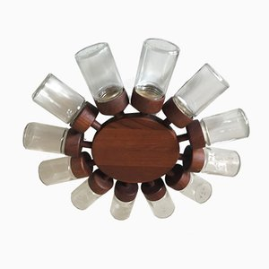 Vintage Teak Condiment Wheel from Digsmed, 1960s