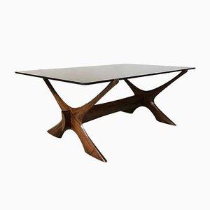 Table Basse Condor en Palissandre et Verre par Fredrik Schiever-Abeln pour Örebro, 1960s