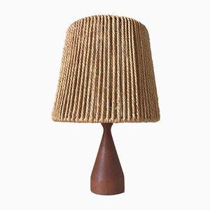 Scandinavian Teak Table Lamp, 1960s