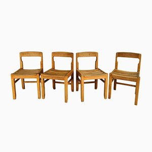 Dining Chairs by Guillerme et Chambron, 1960s, Set of 4