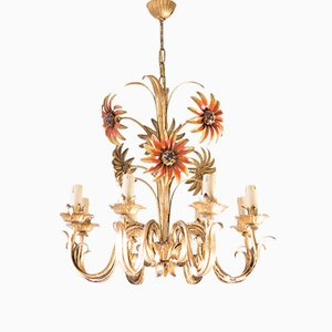 Vintage Kronleuchter in Sonnenblumen-Optik