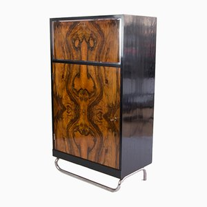 Art Deco French Walnut Half Cabinet, 1930s