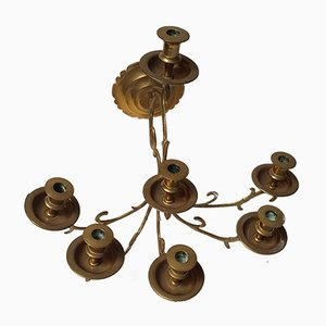 Brass Wall Chandelabra, 1970s