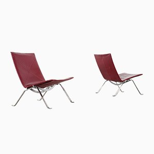 PK22 Lounge Chair by Poul Kjaerholm for E. Kold Christensen, 1956, Set of 2