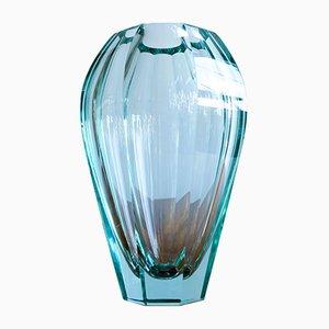 Mid-Century Crystal Vase from Moser Karlovy Vary, 1950s