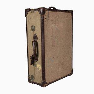 Koffer aus Pappe mit Stoffbezug, 1940er