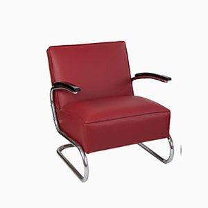 Sedia cantilever rossa di Thonet, anni '30