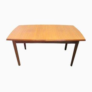 Mesa de comedor extensible de teca de Vanson, años 60