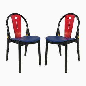 Chaises de Baumann, France, 1980s, Set de 2