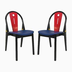 Französische Stühle von Baumann, 1980er, 2er Set