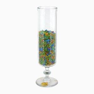 Vase mit Kristallkies von Val Saint Lambert, 1950er