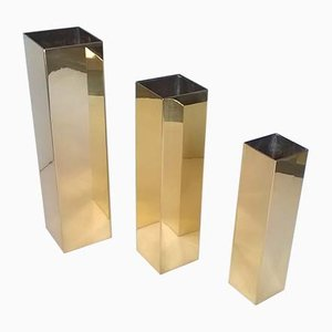 Brass Vases by Carlo Giorgi for Bottega Gadda, 1960s, Set of 3