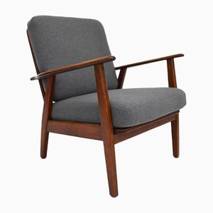 Danish Teak & Oak Lounge Chair, 1960s