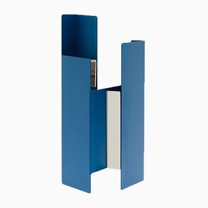 Jarrón Fugit en azul de Matteo Fiorini para Mason Editions