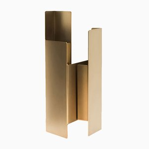 Fugit Vase in Matte Bronze by Matteo Fiorini for Mason Editions