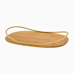 Touché C Tray in Durmast Natural Wood by Martina Bartoli for Mason Editions
