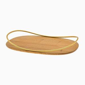 Vassoio Touché C in legno naturale Durmast di Martina Bartoli per Mason Editions