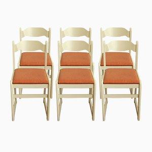 Italienische Vintage Stühle aus Buchenholz und Skai, 6er Set, 1970er