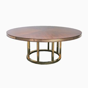 Round Vintage Italian Dining Table, 1970s