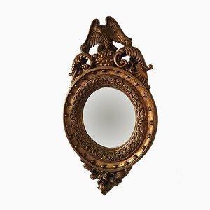 Espejo estilo Regency vintage dorado, años 70