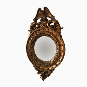 Specchio vintage in stile Regency dorato, anni '70