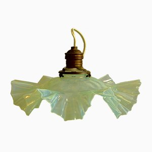 Lampe Art Nouveau en Verre Iridescent, Italie