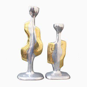 Candle Holders by David Marshall, 1970s, Set of 2